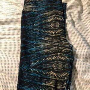 Peacock print TC leggings